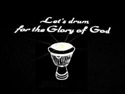 Logo Lets drum for the glory of god